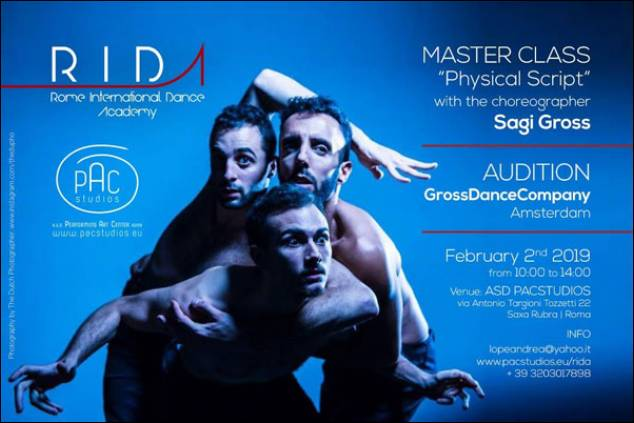 Physical Script' masterclass/Audition a Roma con il coreografo SAGI GROSS