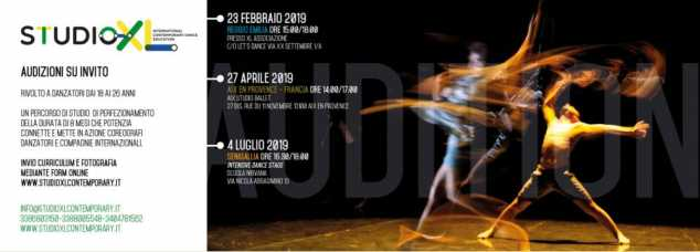 Audizioni STUDIOXL International Contemporary Dance Education