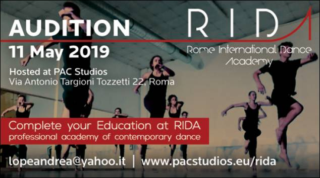 Audizione per il Rome International Dance Academy