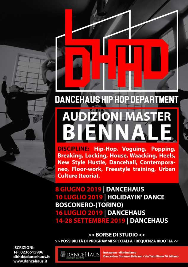 Audizioni Master Biennale DanceHaus Hip Hop Department - DHHD a.a. 2019/20