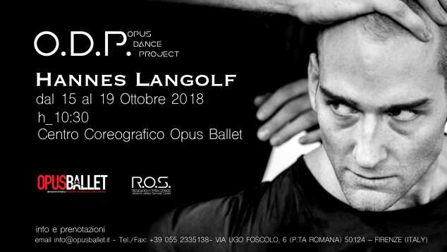 STAGE DANZA CONTEMPORANEA CON HANNES LANGOLF  PER O.D.P. OPUS DANCE PROJECT 2018/2019 (FIRENZE)