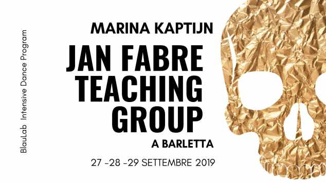Marina Kaptijn (Jan Fabre Teaching Group) a Barletta