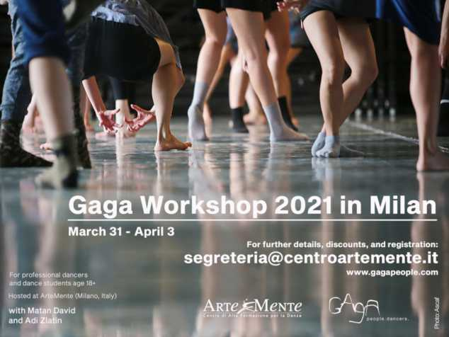 Workshop Gaga + repertorio con Matan David e Adi Zlatin/ Batsheva Dance Company